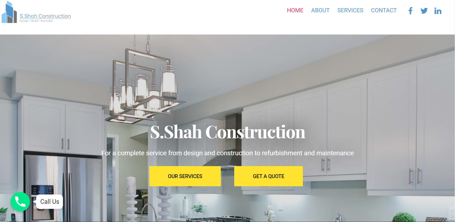 WEBSITE SOLUTIONS FOR S.SHAH CONSTRUCTION